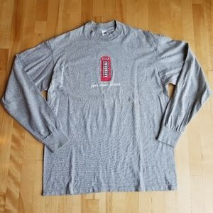 Vintage Pepe Jean's Red Phone Booth Long Sleeve